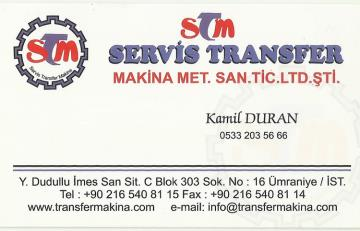 SERVİS TRANSFER MAKİNA